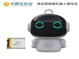 【智能机器人玩具锂电池定制】