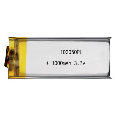 聚合物锂电池电芯 102050 1000mAh3.7v 电动玩具锂电池