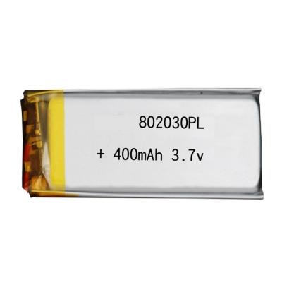 聚合物锂电池 电芯 802030 400mAh 3.7v定制